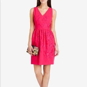 TED BAKER LONDON Pink/Fuchsia Embroidered Dress